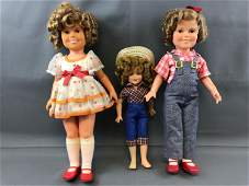 Group of 3 Vintage Shirley Temple Dolls