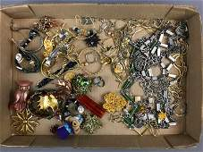 Group of Vintage and modern costume jewelry and watches