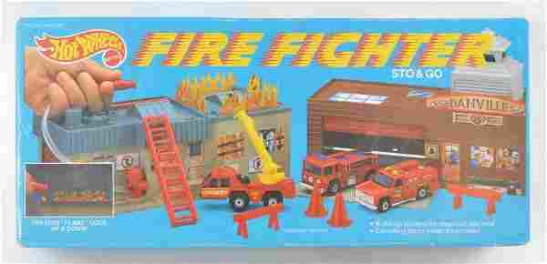Hot Wheels Sto and Go Fire Fighter Playset with