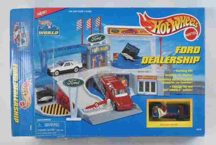 Hot Wheels Ford Dealership Playset with Original Box