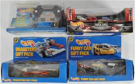 Group of 4 Hot Wheels DieCast Vehicle Gift Packs