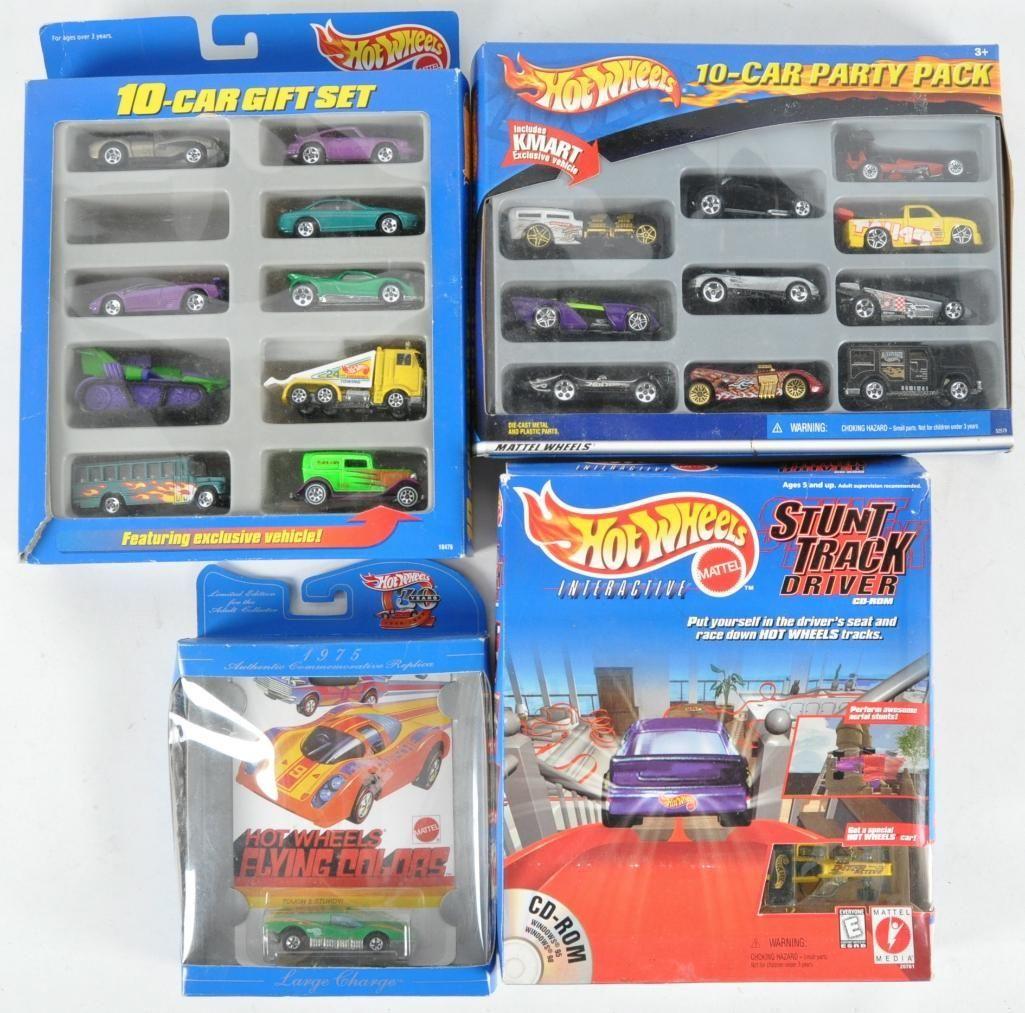 Group of 4 Hot Wheels Die-Cast Vehicle Gift Packs
