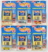 Group of 6 Hot Wheels Computer Cars DieCast Vehicles