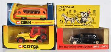 Group of 4 DieCast Vehicles in Original Packaging