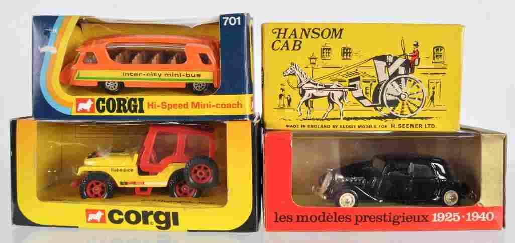 Group of 4 Die-Cast Vehicles in Original Packaging