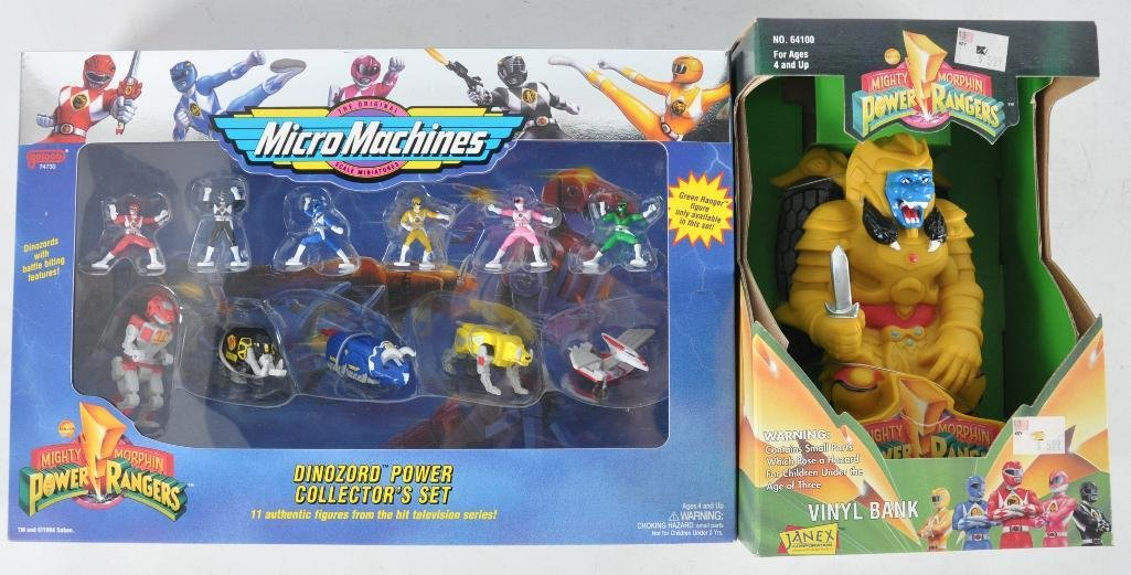 Group of 2 Mighty Morphin Power Rangers Toys in