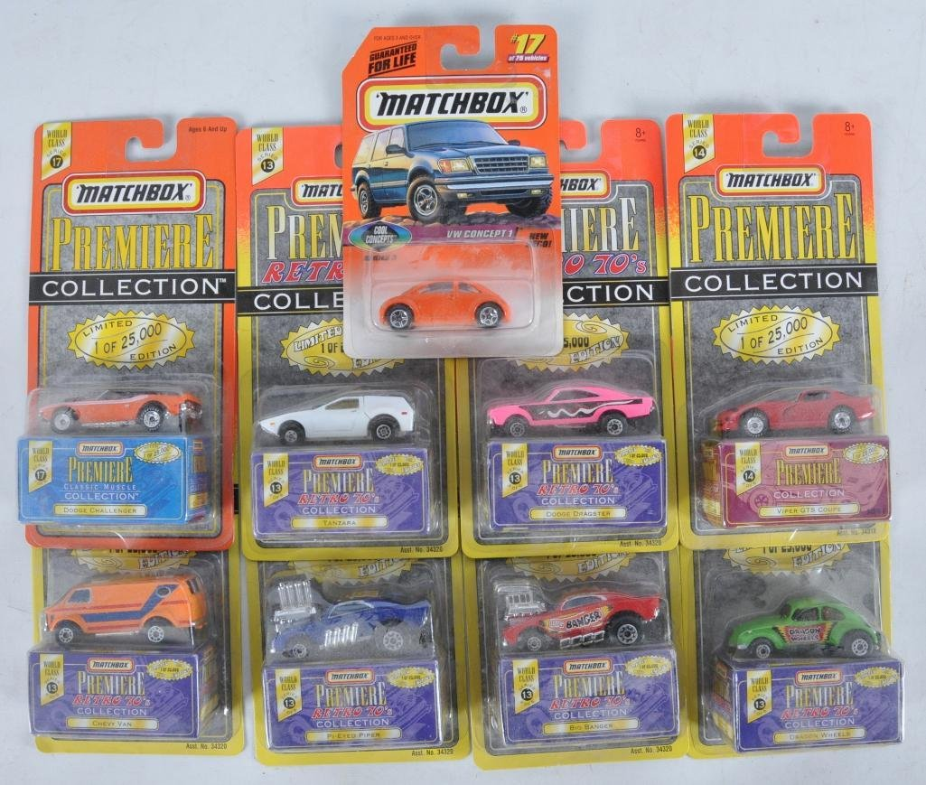 Group of 9 Matchbox Premiere Collection Die-Cast