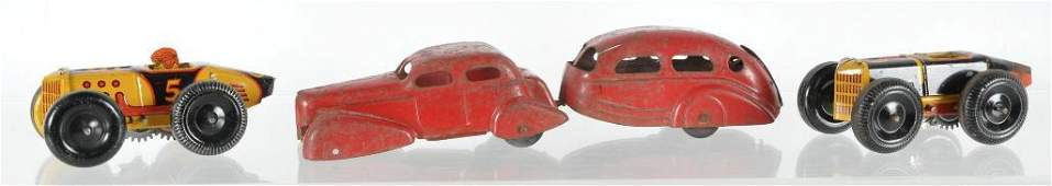Group of Vintage Tin Toy Vehicles