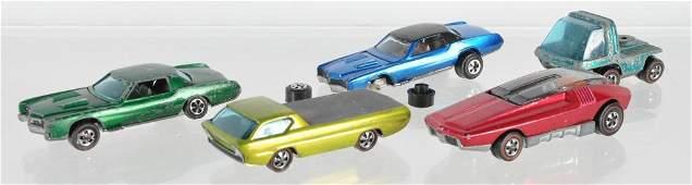 Group of 5 Hot Wheels Redline Die-Cast Vehicles