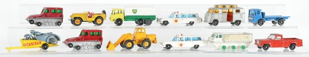 Group of 12 Matchbox Die-Cast Vehicles