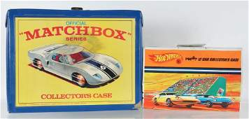 Group of 2 Matchbox and Hot Wheels Collector Cases