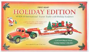 First Gear Holiday Edition DieCast Vehicle Set with