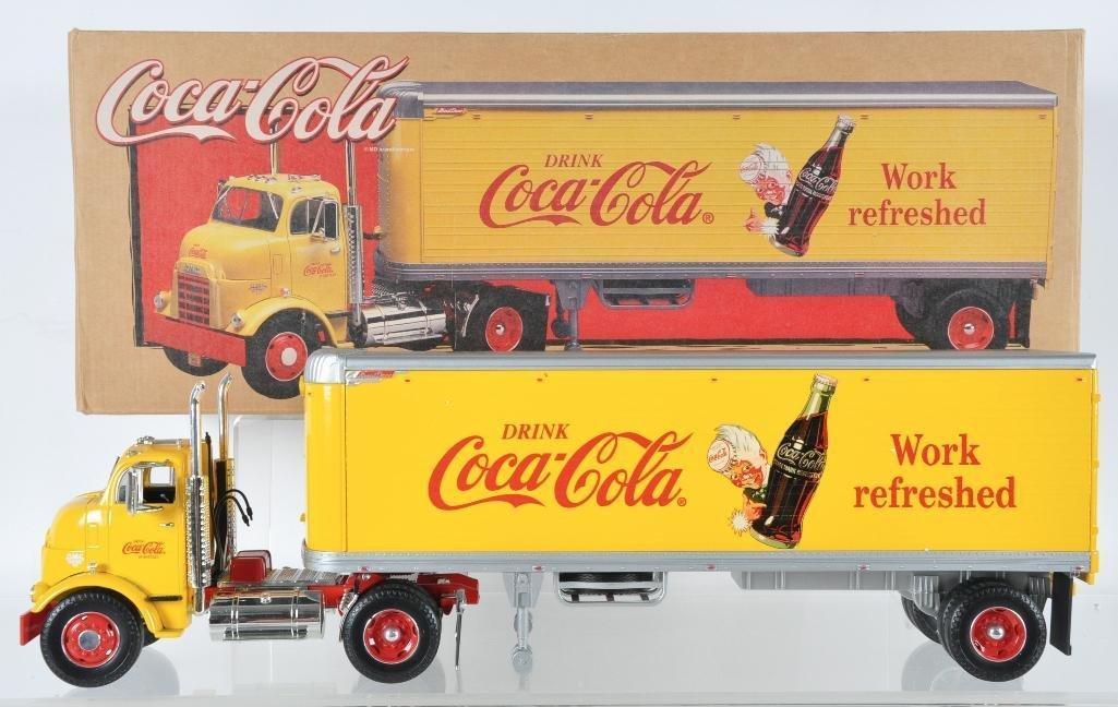 Coca-Cola 1/25th Scale Die-Cast Semi Truck and Trailer