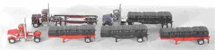 Group of Tekno Die-Cast Semi Trucks