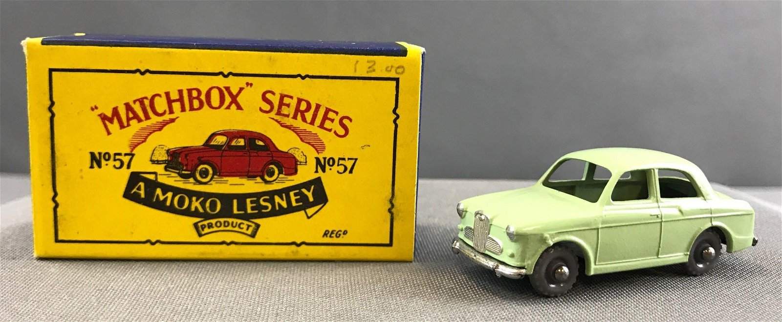 Matchbox No. 57 Wolseley 1500 die cast vehicle with