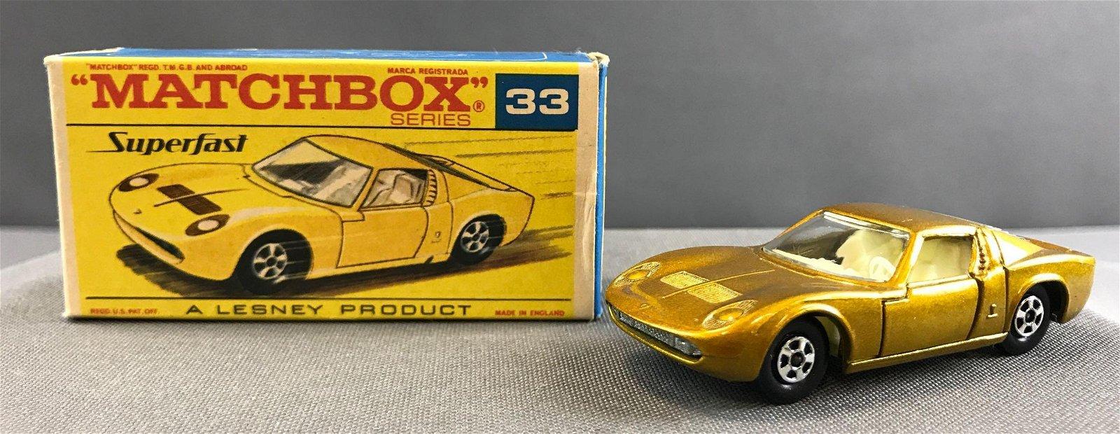 Matchbox Superfast No. 33 Lamborghini Miura die cast