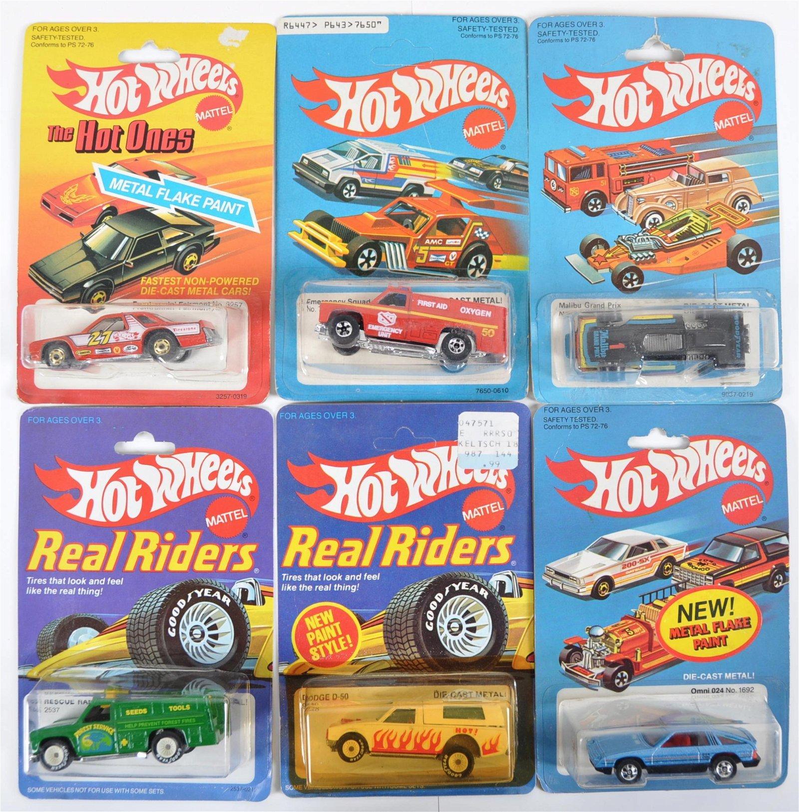 Group of 6 Hot Wheels Die-Cast Cars in Original