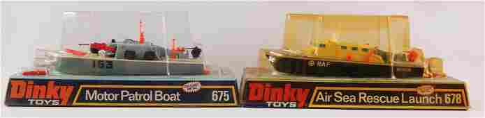 Group of 2 Dinky Toys Boats in Original Packaging