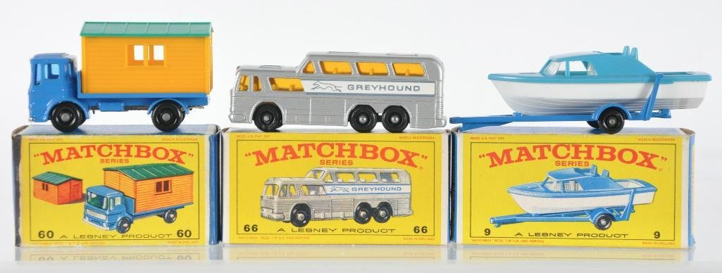 Group of 3 Matchbox Die-Cast Vehicles with Original