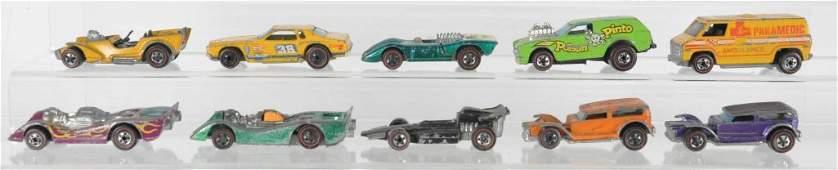 Group of 10 Hot Wheels Redline Die-Cast Vehicles