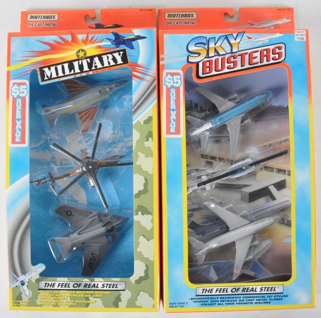 Group of 2 Matchbox Skybuster Gift Packs