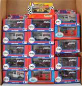 Group of 16 Matchbox DieCast Vehicles in Window Boxes