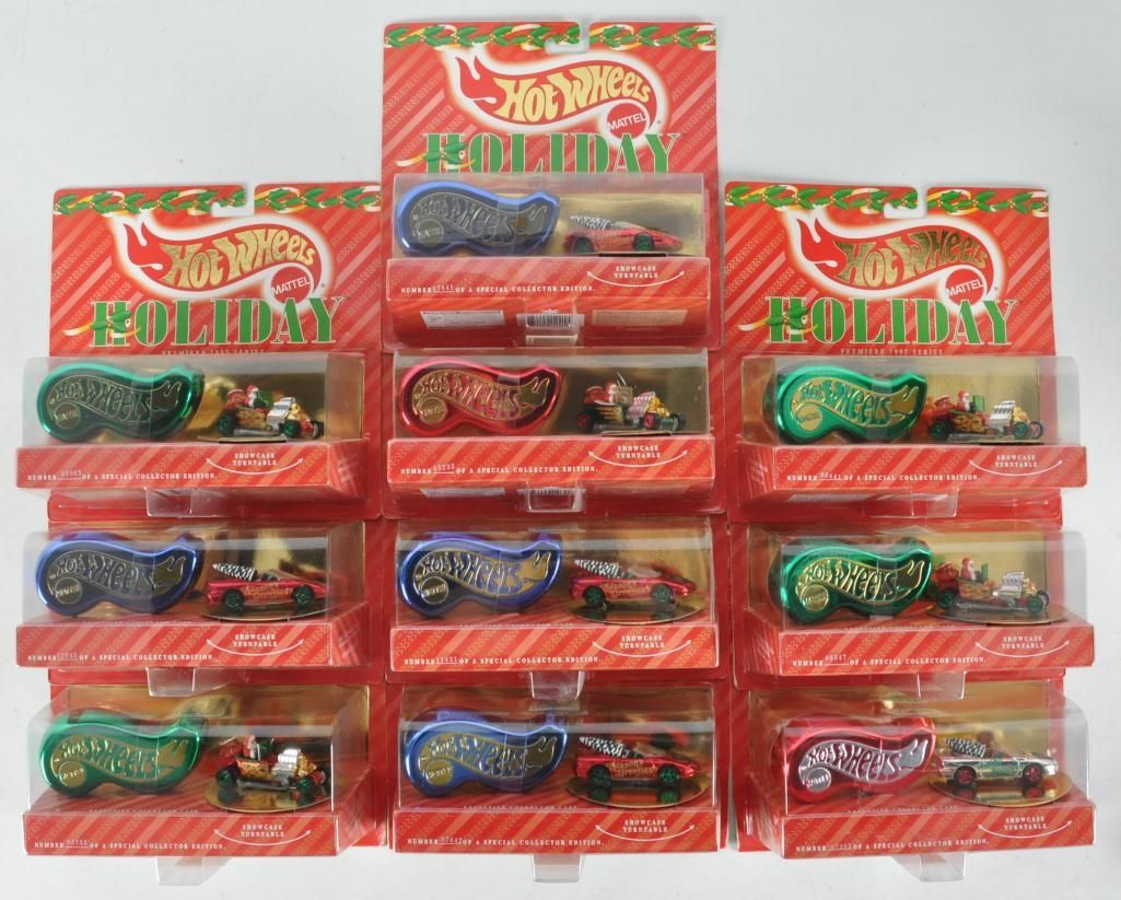 Group of 10 Hot Wheels Holiday Gift Sets