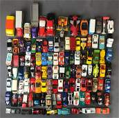 Group of 110 die-cast and plastic vehicles