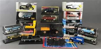Group of 18 die-cast vehicles