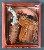 Vintage childs toy Top Grain Cowhide Western Holster