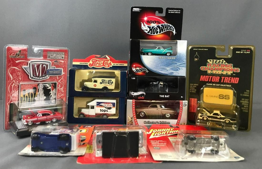 Group of 10 die-cast vehicles in original packaging