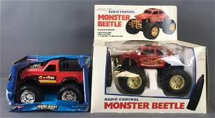 Group of 2 toy monster trucks