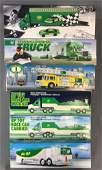 Group of 6 toy BP trucks in original packaging