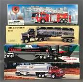 Group of 6 toy Texaco trucks in original packaging