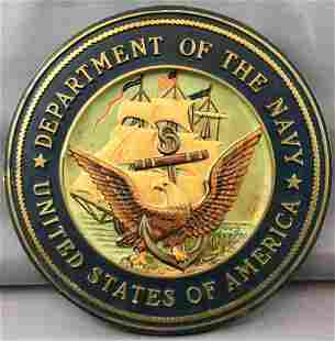 Vintage Department of the Navy Sign