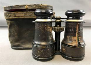 Vintage Military Binoculars in Case