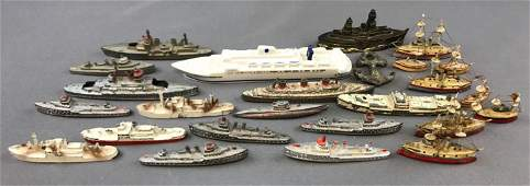 Group of 20+ Vintage Die Cast Ships and more