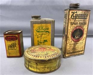 Group of 4 Vintage Tins