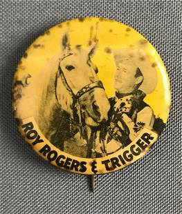 Vintage Roy Rogers and Trigger ButtonPin