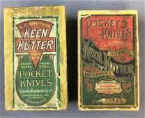 Antique Pocket Knife Boxes Keen Kutter