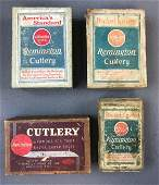 Group of 4 Antique Remington Pocket Knives boxes