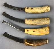 Group of 4 Antique Horse Hoof Knives
