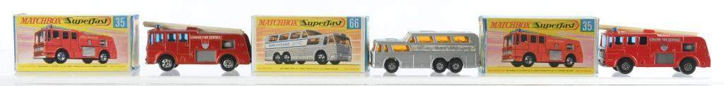 Group of 3 Matchbox DieCast Vehicles with Original