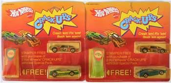 Group of 2 Hot Wheels Crack Ups Gift Sets in Original