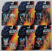 Group of 6 Star Wars Power of the Force Action Figures