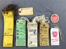 Group of Vintage railroad baggage claim checks