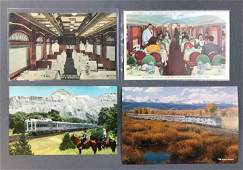 Group of vintage Railroad Postcards
