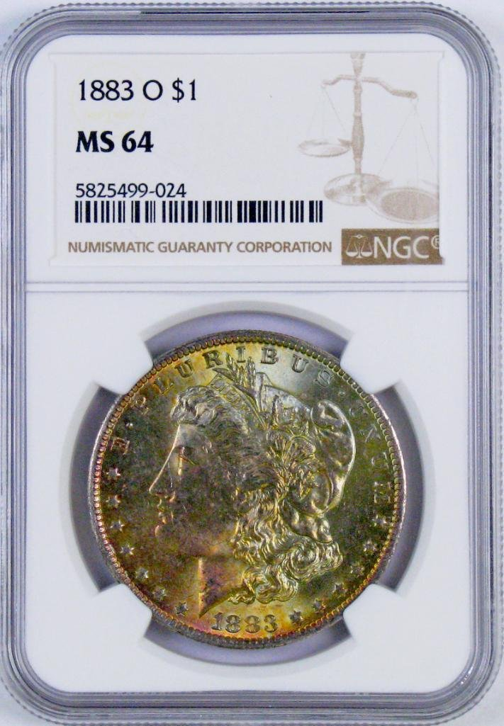 1883 O Morgan Silver Dollar (NGC) MS64.