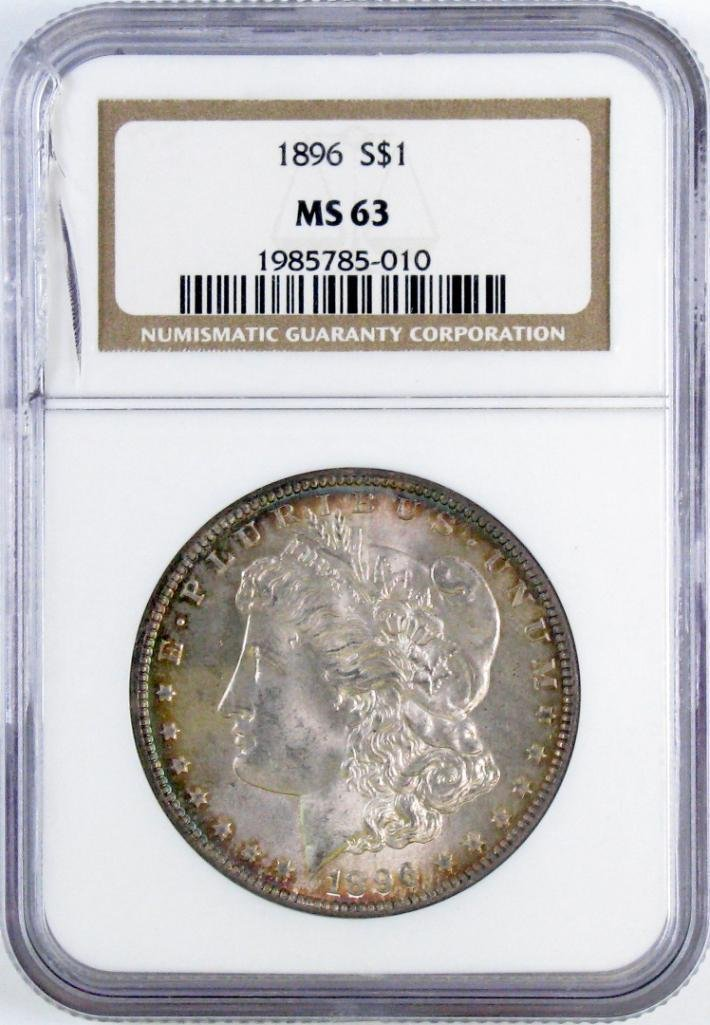 1896 P Morgan Silver Dollar (NGC) MS63.