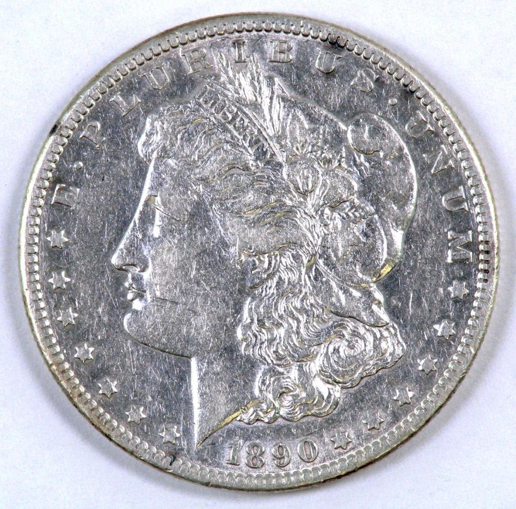 1890 CC Morgan Silver Dollar.